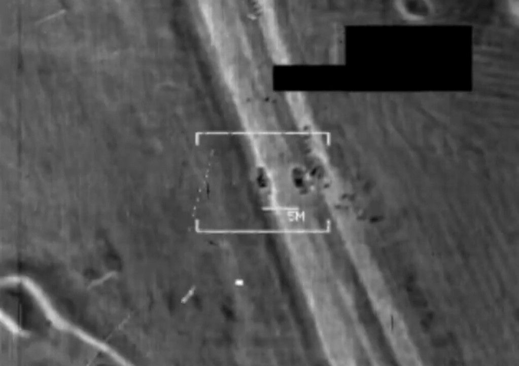 . An image grab taken from a handout video released by the United States Central Command (Centcom) on August 8, 2014, shows a US military F/A-18 Hornet fighter jet strike on what the US army says is an Islamic State (IS) target at an undisclosed location in northern Iraq. US warplanes bombed jihadist positions in northern Iraq on August 8, 2014, in what the federal and Kurdish governments vowed would allow them to start clawing back areas lost in two months of conflict. AFP AFP PHOTO / HO / CENTCOM/AFP/Getty Images