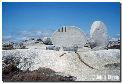 Swissair Flight 111 Memorial, Whalesback, Peggys Cove