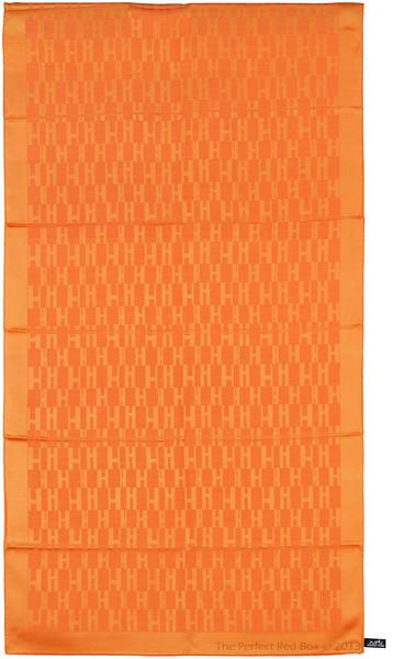 Grand H - Scarf Faconne - 75x180 cm - Orange - NWCT - Ref 1309231459