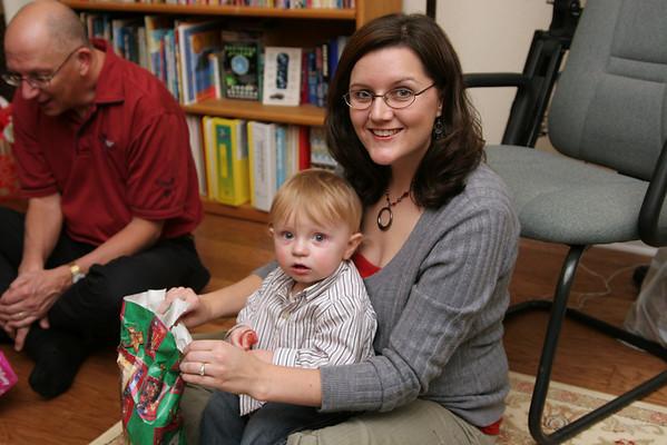 Christmas Eve at the Hackbarths - December 24, 2007
