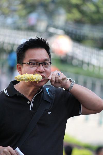 This Guy Loved his Corn, St Pauls Ruins, Macau