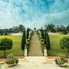 Morning in the Bahá'í Gardens, Haifa, Israel