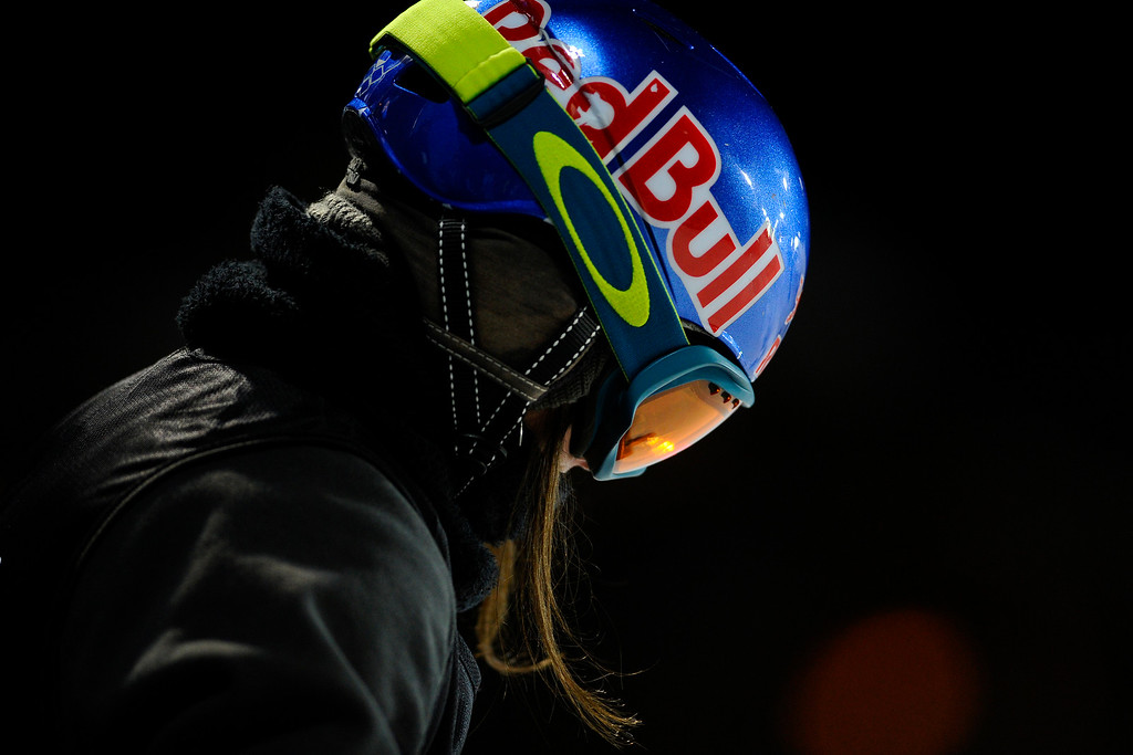 . Queralt Castellet prepares to take a run during the Women\'s Snowboard Superpipe finals, Saturday January 24, Winter X Games 2015 on Buttermilk Mountain.  (Photo By Mahala Gaylord/The Denver Post)