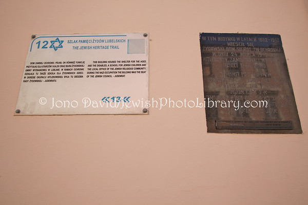 "POLAND, Lublin. Jewish Gate (Brama Grodzka) and TeatrNN Museum, ""Lublin, Memory of the Place"" Exhibition. (9.2011)"