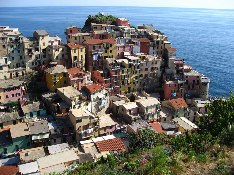 Manarola is the town we rented an apartment in.