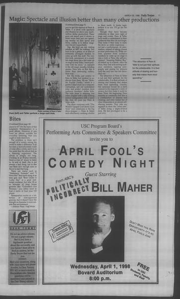 Daily Trojan, Vol. 133, No. 47, March 30, 1998