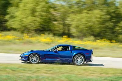 Blue C6 Corvette
