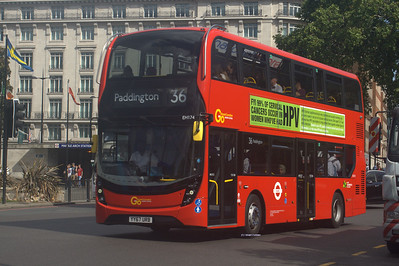 EH174, YY67URB, Go-Ahead London, Marble Arch