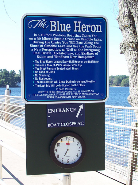 A new sign at the Blue Heron.