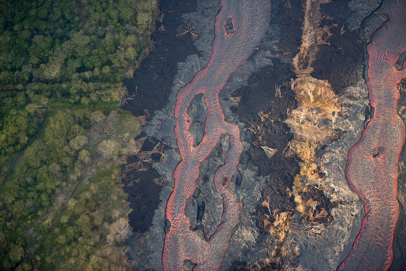 Ribbons of Lava