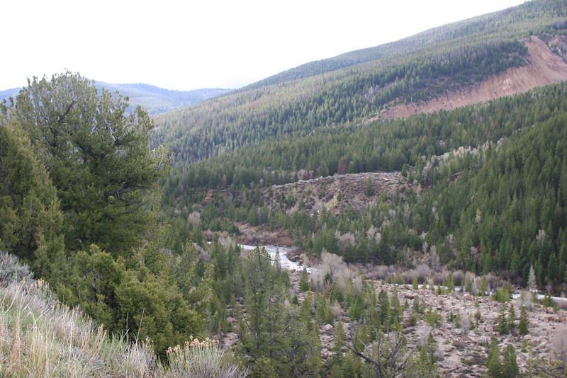 Gros Ventre Landslide area and Snake River below