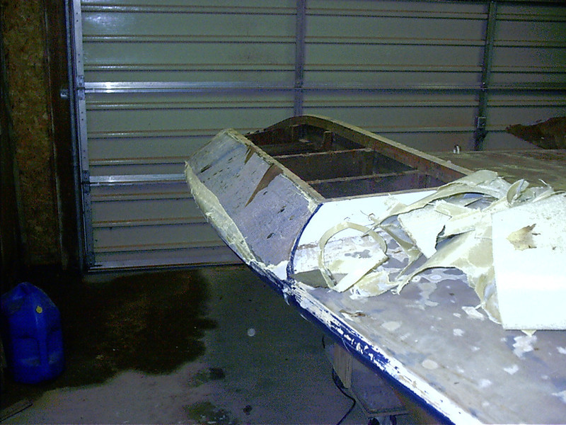 Rear view of starboard non trip.