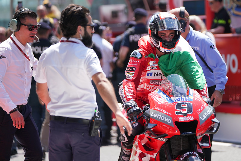 Danilo Petrucci enters Parc Ferme after winning the 2019 Mugello MotoGP race - Photo Cormac Ryan Meenan