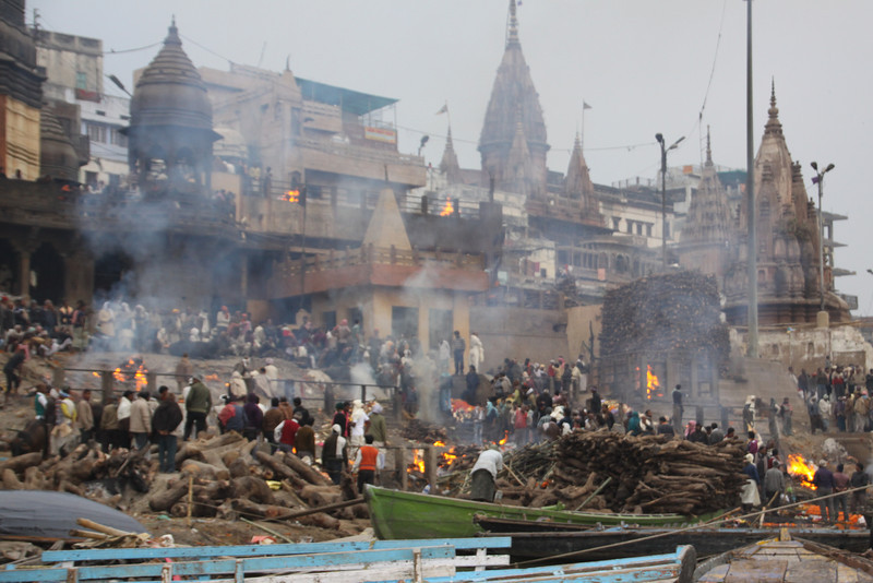 Marnikarnika Ghat is the main burning ghat