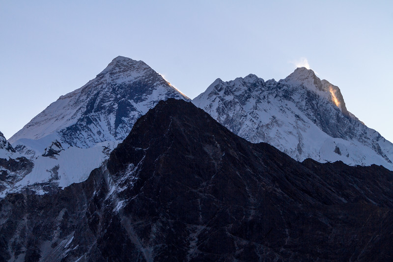 Mount Everest And Nuptse At Sunrise From Gokyo Ri, Gokyo, Solukhumbu, Himalayas, Nepal, Asia