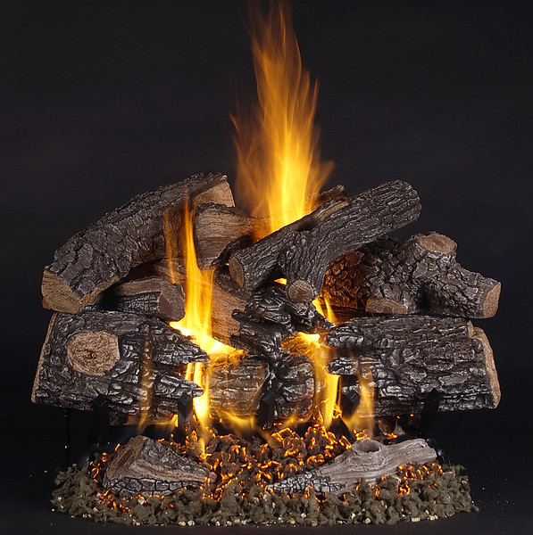 "24"" TimberFire Logs on LC24 Multi-burner."