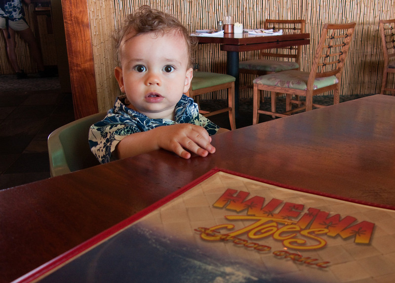 I'm not sure Ty understood the question.  Lunch at Haleiwa Joes was good none the less.