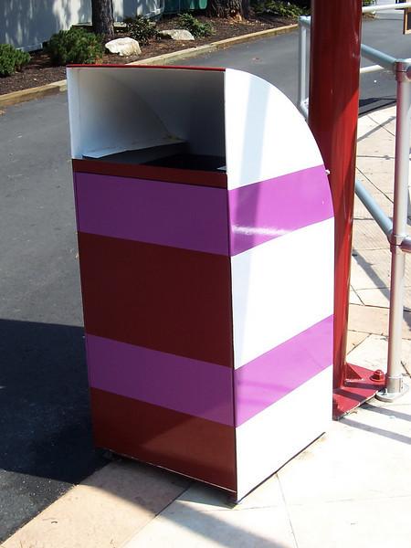 Zero Gravity themed trash can.