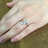 1.38ctw Antique Old European Cut Diamond 3-Stone Ring 16
