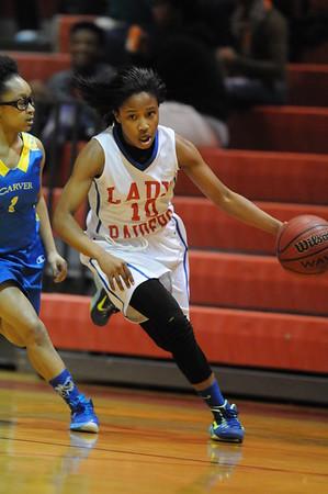 Carver HS vs HP Andrews HS basketball 01-19-15