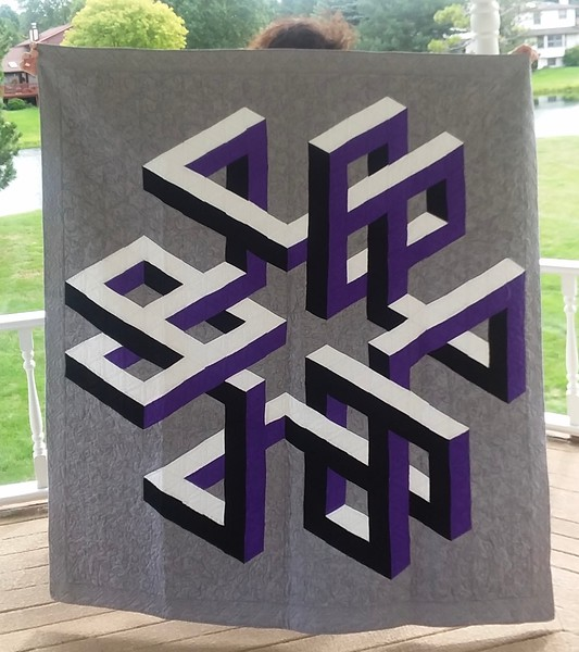 Ann Newell made this Escheresque Quilt