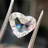 2.19ct Heart Portrait Cut Diamond, GIA J SI1 12