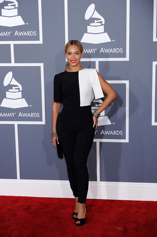 . Beyonce arrives to  the 55th Annual Grammy Awards at Staples Center  in Los Angeles, California on February 10, 2013. ( Michael Owen Baker/Los Angeles Daily News)