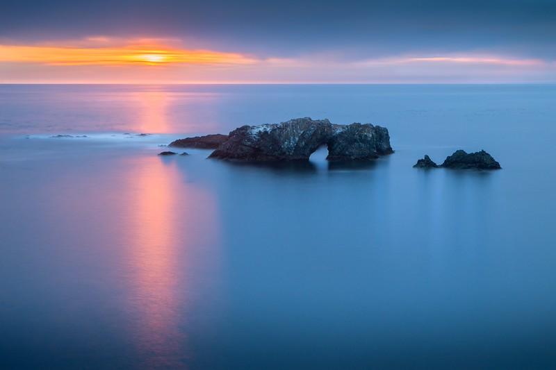 Sunset, Arch Rock, Sea Ranch, California