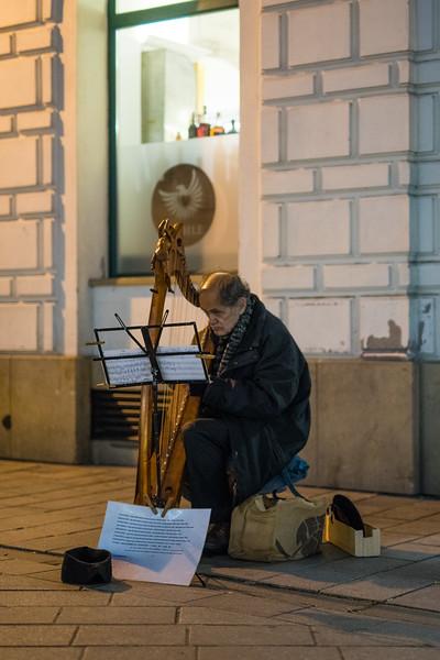 Harpist, Bratislava, Slovakia