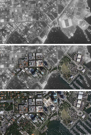 Miami 1952 and 2016 aerials
