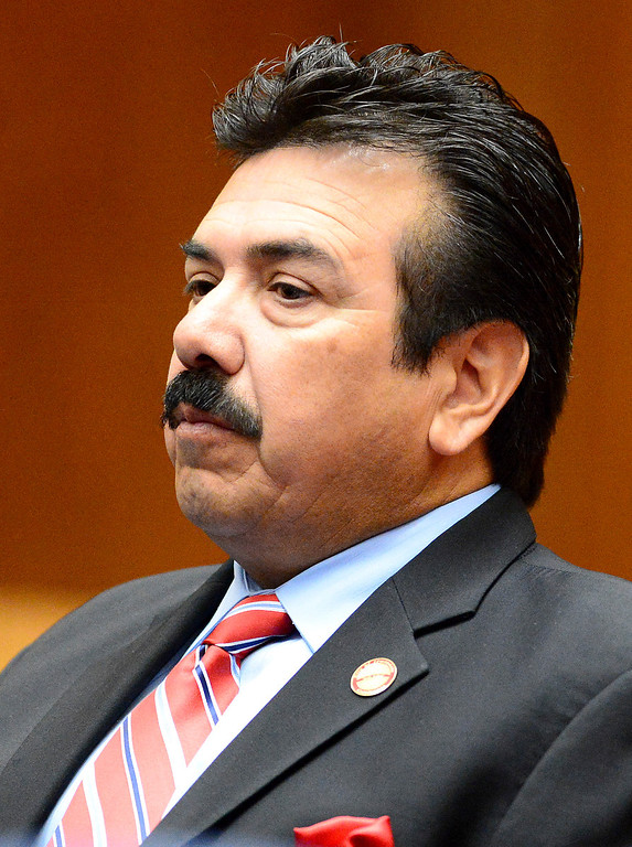 . Irwindale official Councilman Manuel Garcia appears in court for the fifth time Tuesday, December 17, 2013 at Clara Shortridge Foltz Criminal Justice Center in Los Angeles as attorneys argue statue of limitations on conflict of interest and misappropriation of public funds\' charges. (Photo by Sarah Reingewirtz/Pasadena Star-News)
