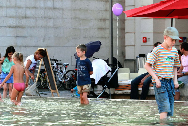 Kids are more interested in staying cool than in fashion.