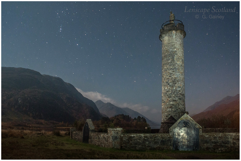 the Glenfinnan Monument at the head of Loch Shiel