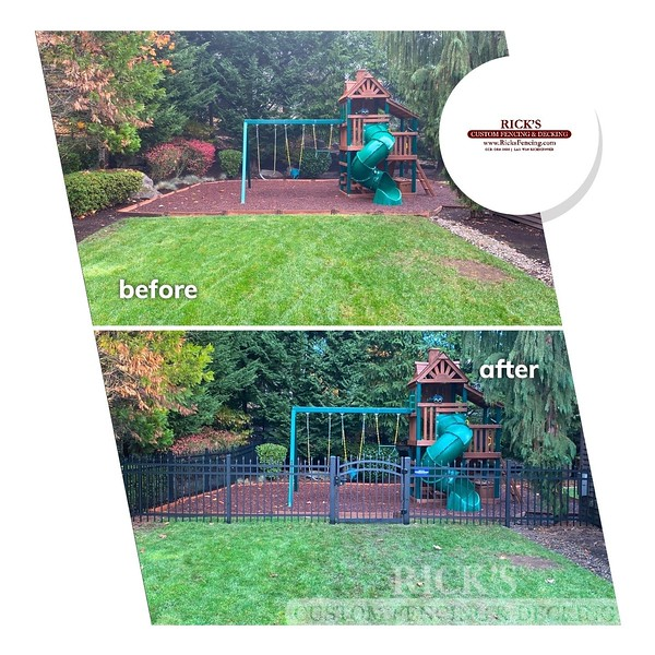 Before & After DSI Aluminum Fencing
