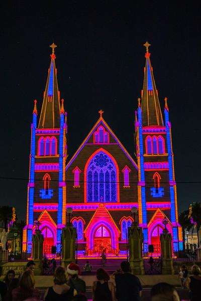 The Lights of Christmas - St Josheph's Cathedral Rockhampton.