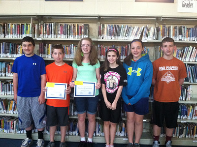 Students of the Month, Tamaqua Area Middle School, Tamaqua (5-22-2013)