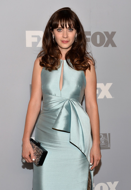 . Actress Zooey Deschanel attends the FOX Broadcasting Company, Twentieth Century FOX Television and FX Post Emmy Party at Soleto on September 22, 2013 in Los Angeles, California.  (Photo by Alberto E. Rodriguez/Getty Images)