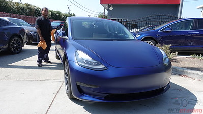 Tesla Model 3 - Stealth Deep Blue Metallic 2