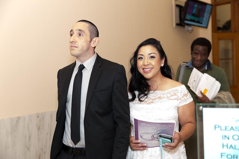 Monica & Matthew at City Hall