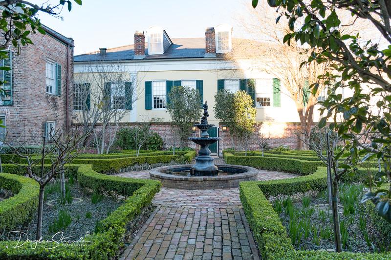 Manicured courtyard
