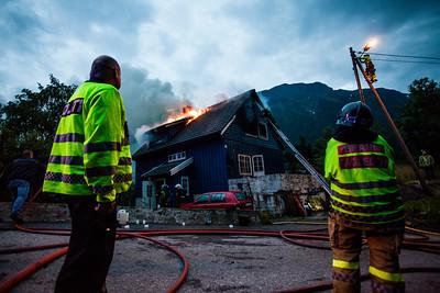Fire in Odda