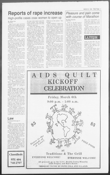 Daily Trojan, Vol. 117, No. 35, March 06, 1992