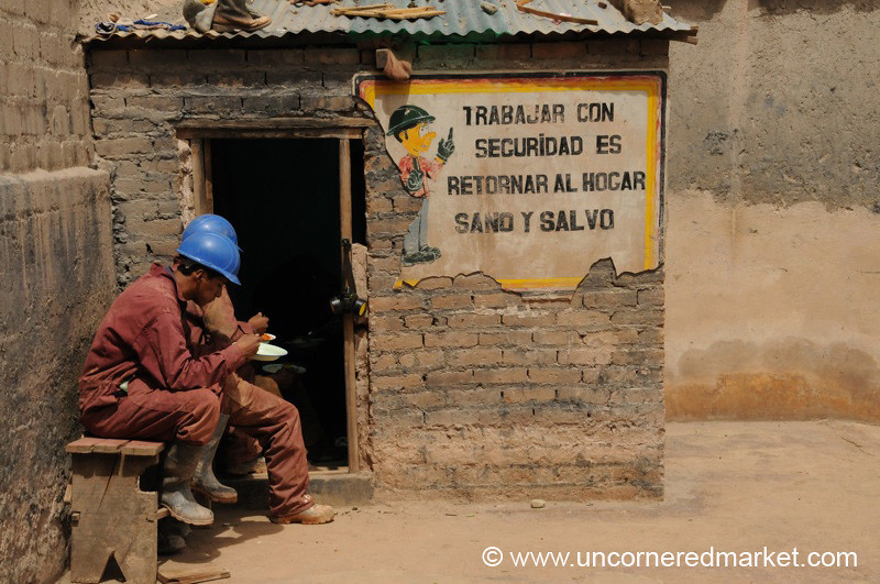 Lunch Break at the Mineral Factory- Potosi, Bolivia