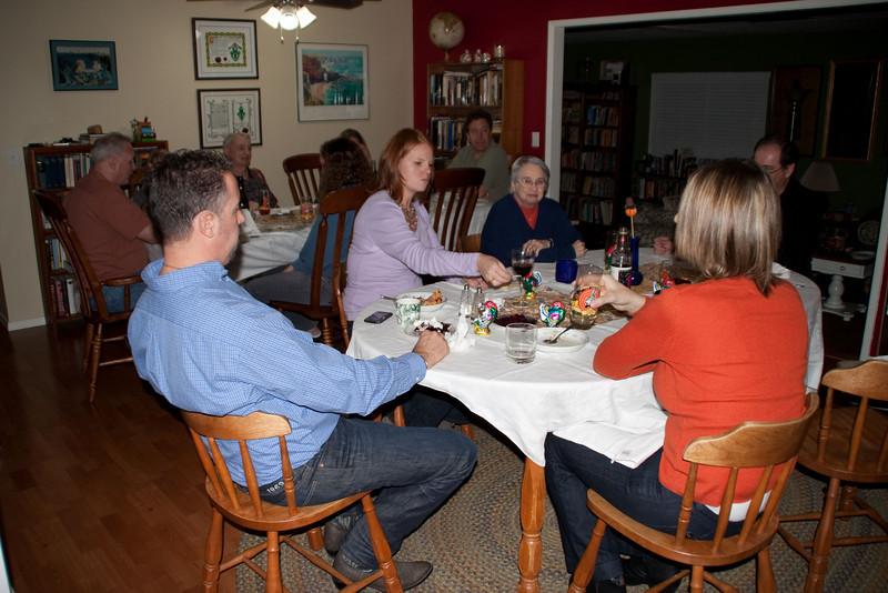 Everyone at dinner.