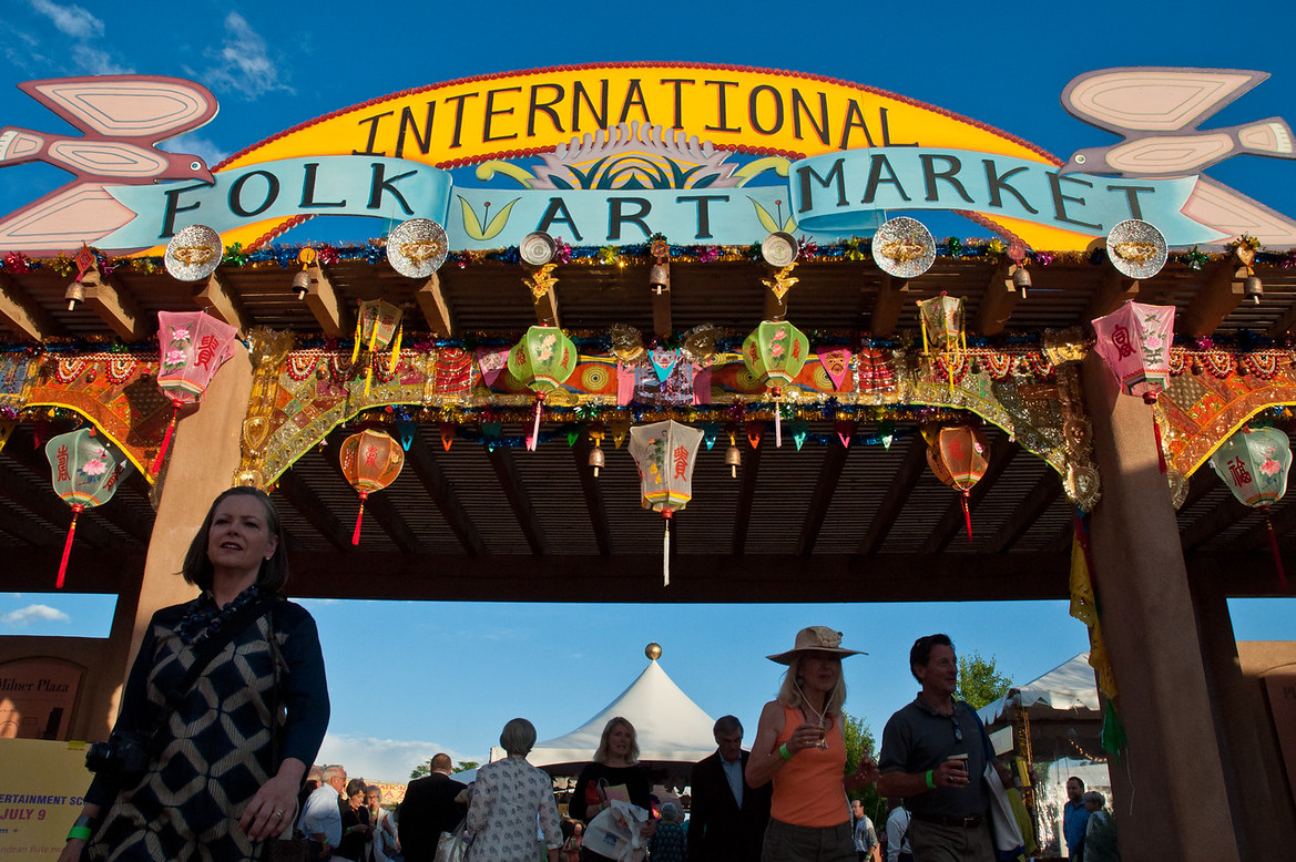 At the Santa Fe International Folk Art MarketPhoto © Michael Benanav.