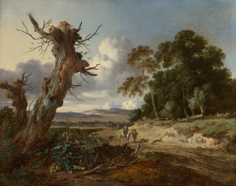 A Landscape with Two Dead Trees