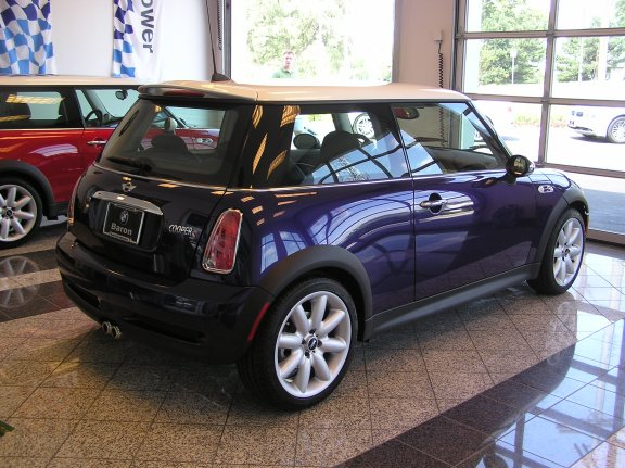 Second look... The 2005 purple haze MINI is backed up and ready to tackle the twisties of Colorado. Come on Rick and Wendy, let's go!