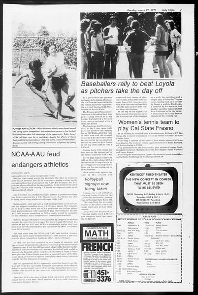 Daily Trojan, Vol. 65, No. 96, March 22, 1973