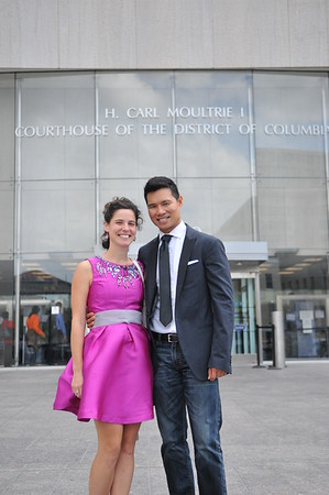 Razza and Ines DC Courthouse Marriage