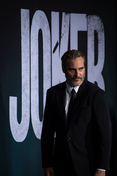 "HOLLYWOOD, CALIFORNIA - SEPTEMBER 28: Joaquin Phoenix attends the premiere of Warner Bros Pictures ""Joker"" on Saturday, September 28, 2019 in Hollywood, California. (Photo by Tom Sorensen/Moovieboy Pictures)"